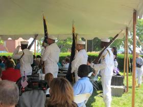 Navy Color Guard, July 4 naturalization ceremony, Strawbery Banke,Portsmouth