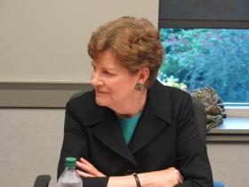 Senator Jeanne Shaheen received suggestions from civilian experts at UNH on best practices for addressing sexual violence in the military.