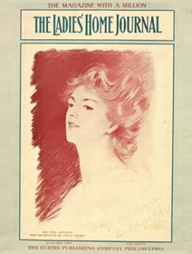 "From Ladies Home Journal: ""Our first celebrity cover appeared in 1904, when John Singer Sargent sketched Ethel Barrymore."""