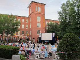 Jaws played at Dover's Dinner and a Movie at Cocheco Mill Courtyard