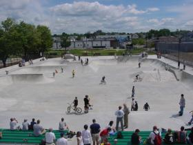 How the skate park used to look when it was brand new.