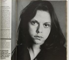 This is the photo many associate with Maynard. She was just 18 when she met and moved in with J.D. Salinger.