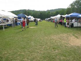 A scene from the 49th  Annual Gilsum Rock Swap