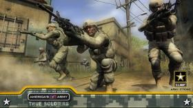 "A screen shot from ""America's Army,"" the video game used to help train the military."