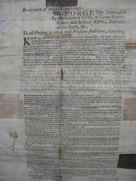 Alstead's original grant proclamation
