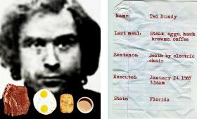 Ted Bundy's last meal, as pictured on photographer Jonathon Kambouris' site, The Last Meal Project