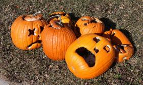 Disheartened Jack-o-Lanterns