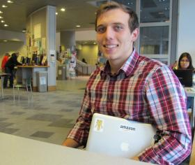 Despite formal training and an internship focusing on smartphone app development, Dartmouth student Jon Guinther went with the more stable job at Amazon.