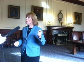 Governor Hassan answers questions after a plan to expand Medicaid failed in the statehouse.