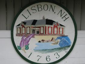 Sign welcoming you to Lisbon, NH