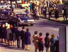 A still from the Zapruder film, which captured the assassination of President Kennedy