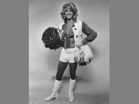 'The Great Imposter' Barry Bremen dressed as a Dallas Cowboy's cheerleader.
