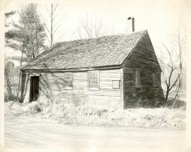 Exterior of the Candia School House which now resides at Old Sturbridge Village