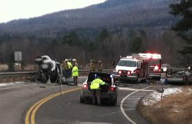 The crash closed Route 3 in Columbia for several hours.