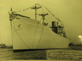 Photo of the WW2 Victory Ship, the SS Woodstock