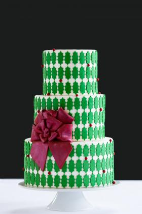Erin Gardner says most of her clients order wedding cakes, but some do order custom cakes like these for holiday parties.
