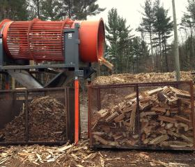 At the Ossipee Mountain Land Company, fine-tuned machinery cranks out uniform pieces of wood.