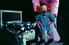 The creepy factor of clowns.