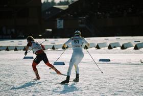 Freeman (left) has been a standby of the U.S. cross-country ski team for over a decade.