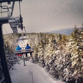 Riding the Chairlift to the Loon Summit