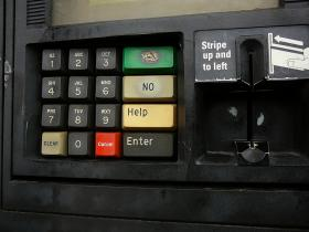 N.H. gas station keypad