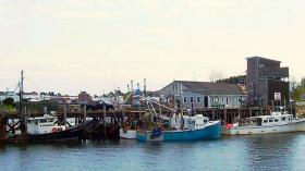 Fishing trawlers in Portsmouth