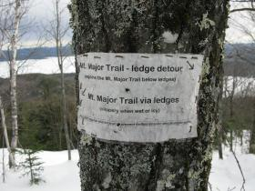 Heavy erosion on the Main trail has meant alternative routes to the top have proliferated. But as the main trail gets washed out, novice hikers who want surer footing move off the edges of the trail, which in turn makes the erosion spread even wider.