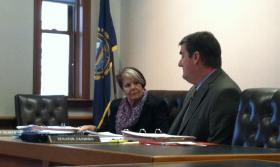 Senators Peggy Gilmour and Andy Sanborn debate SB 413.