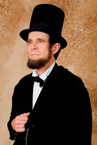 Steve Wood as President Lincoln.