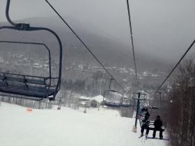 Riding the chairlift is one of Sam's favorites.