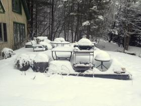 Snow Covered Patio Furniture - Another Perspective