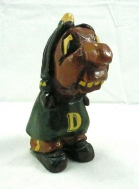 A figurine of Dartmouth College's defunct Indian mascot.