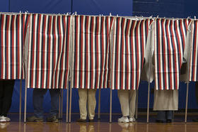 Voters in Nashua, NH