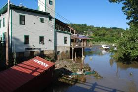 Flooding near Main Street Museum in WRJ, VT