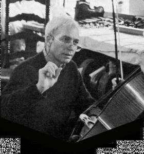 Master violin maker Horst Kloss.