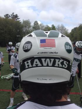 The initials DSM can be found on every Hopkinton helmet.