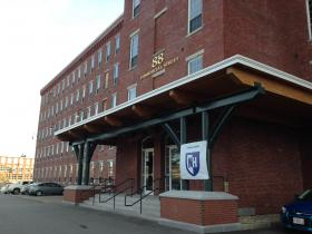 The Pandora building at 88 Commercial street was renovated two years ago. Right now, UNH Manchester leases class and administrative space in the first two floors.