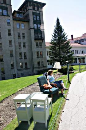 In May 2012 most of the furnishings of the closed hotel were sold at an auction. Photo by Chris Jensen for NHPR