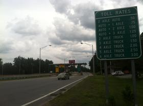One of the ramp tolls along the F.E. Everett Turnpike in Merrimack.