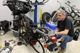 Steve Young's invention is designed to modify bikes for older riders or those with disabilities.