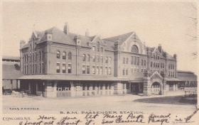 The Boston and Maine Train Station once stood on Storrs Street in Concord. New developments in Concord now seek to replicate the building's architecture, which was under-appreciated when it was razed in the 1950's.