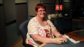 Lisa Wellman-Ally, president of the New Hampshire Bar Association, in the NHPR studios.