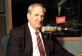 Bob Smith in NHPR's studio, 2014.