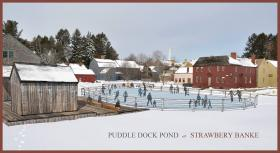 A artist's rendering of Puddle Dock pond ice rink