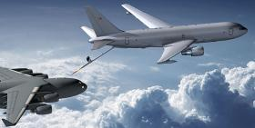 The Boeing KC-46 Tanker, as depicted on Boeing's press page.