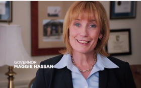 Maggie Hassan in her first TV spot released Wednesday.
