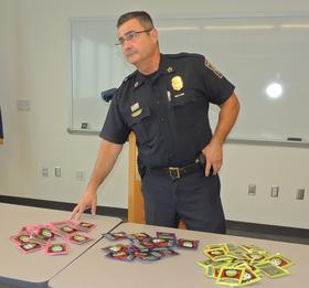 Chief David Mara shows the product called spice. The department says it's led to multiple overdoses in the city.