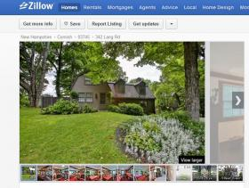 Zillow listing for Salinger's Cornish home. Photos by Jim Mauchley at www.mountaingraphics.com.