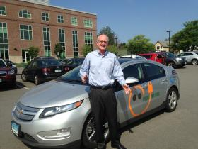 Watson Collins with his Chevy Volt