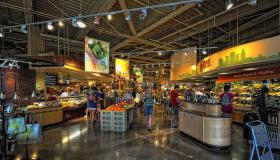 This Austin, TX Whole Foods interior shot is typical of the upscale chain's aesthetic.